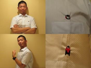 ビジネス用くまモンYシャツ